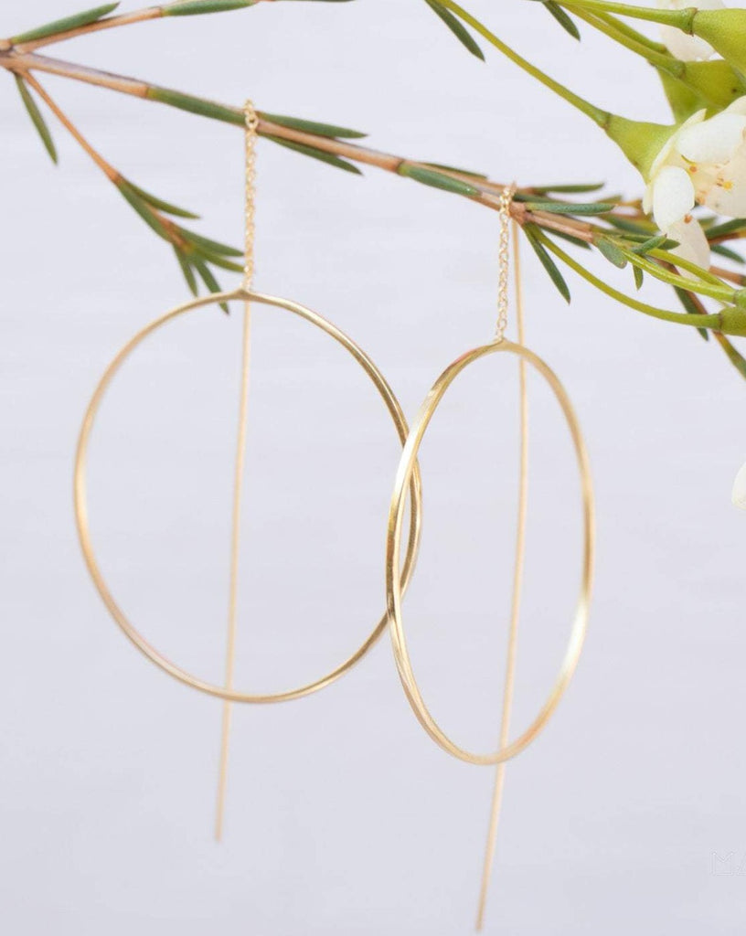 Threader Earrings ~ 18k Gold Plated Earrings ~ ME130 - Maresia Jewelry