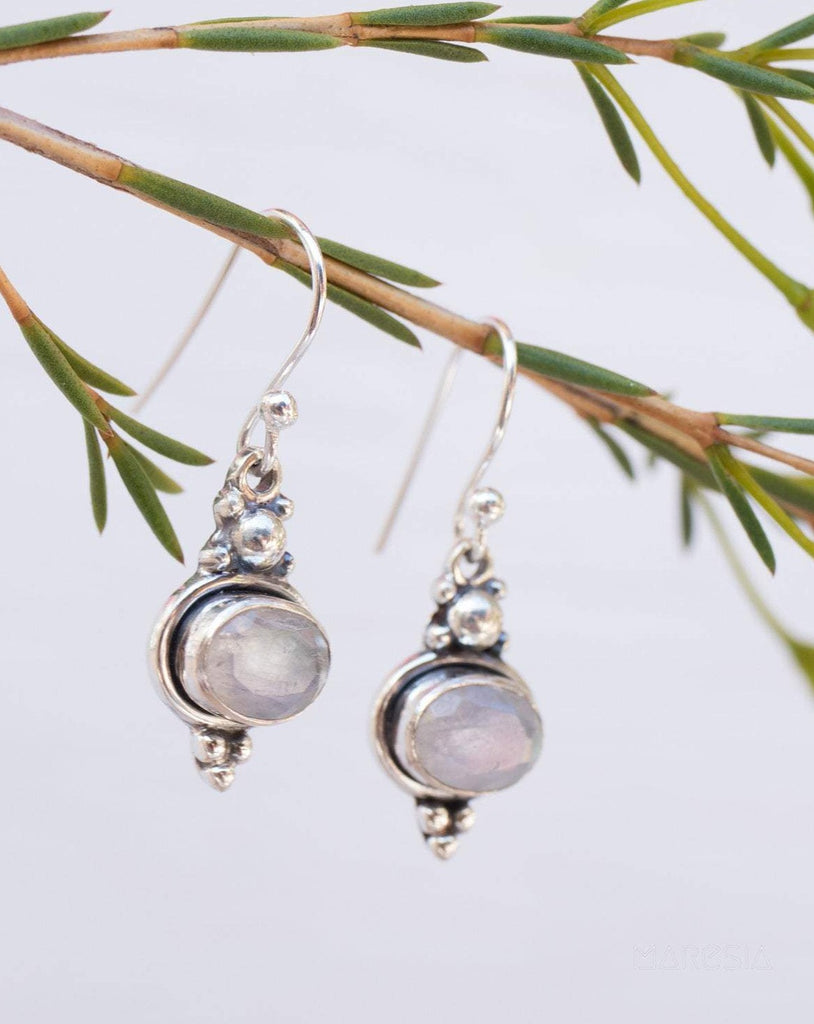 Moonstone Earrings ~Sterling Silver 925~ ME119 - Maresia Jewelry