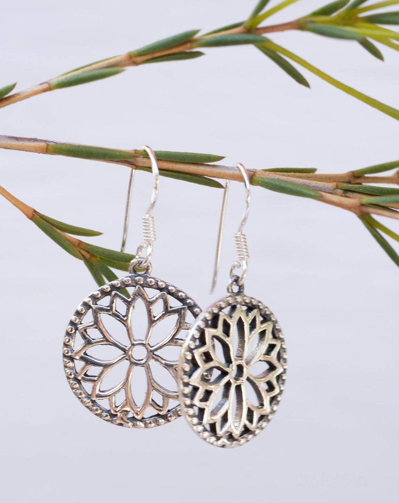 Flower Mandala Sterling ~ Sterling Silver 925 ~ ME128 - Maresia Jewelry