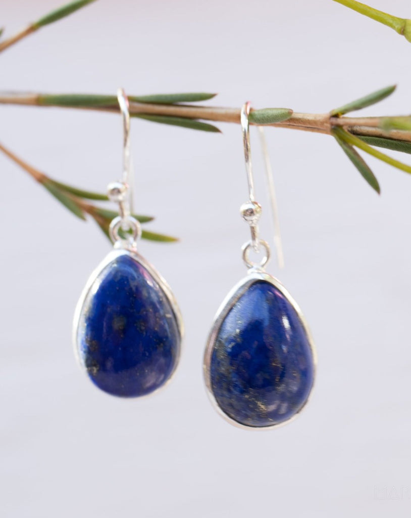 Lapis Lazuli Earrings ~ Sterling Silver 925  ~ ME141 - Maresia Jewelry