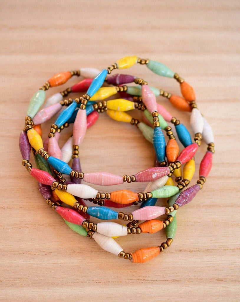 Paper Beads Necklace ~ LN062