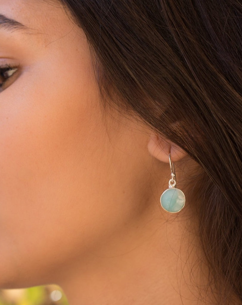 Larimar Earrings  ~ Sterling Silver 925 ~ ME111 - Maresia Jewelry
