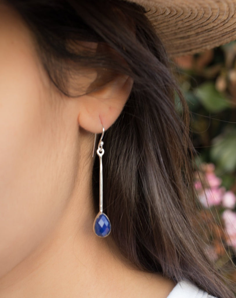 Lapis Lazuli Earrings ~ Sterling Silver 925 ~ ME136 - Maresia Jewelry