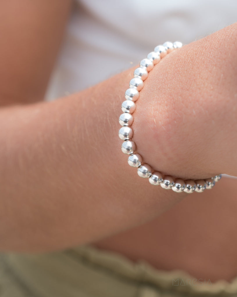 Sterling Silver or Gold Filled Bead Bracelet ~ MB010