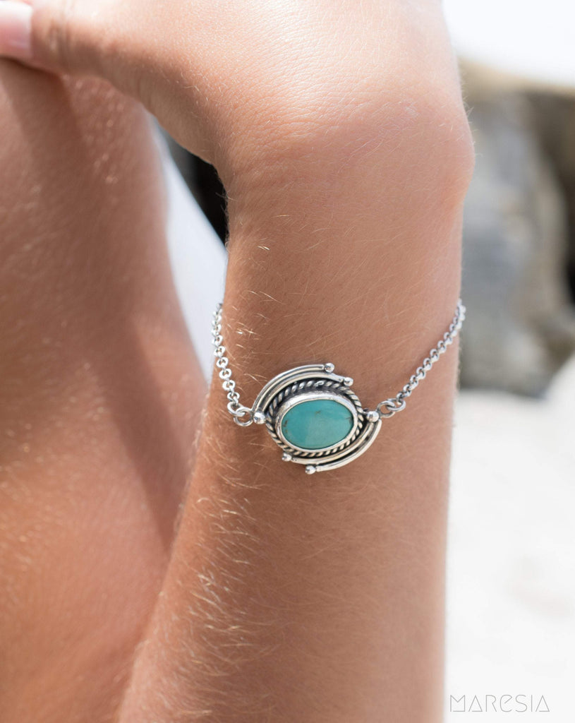 Turquoise Bracelet ~ Sterling Silver 925 ~MB021