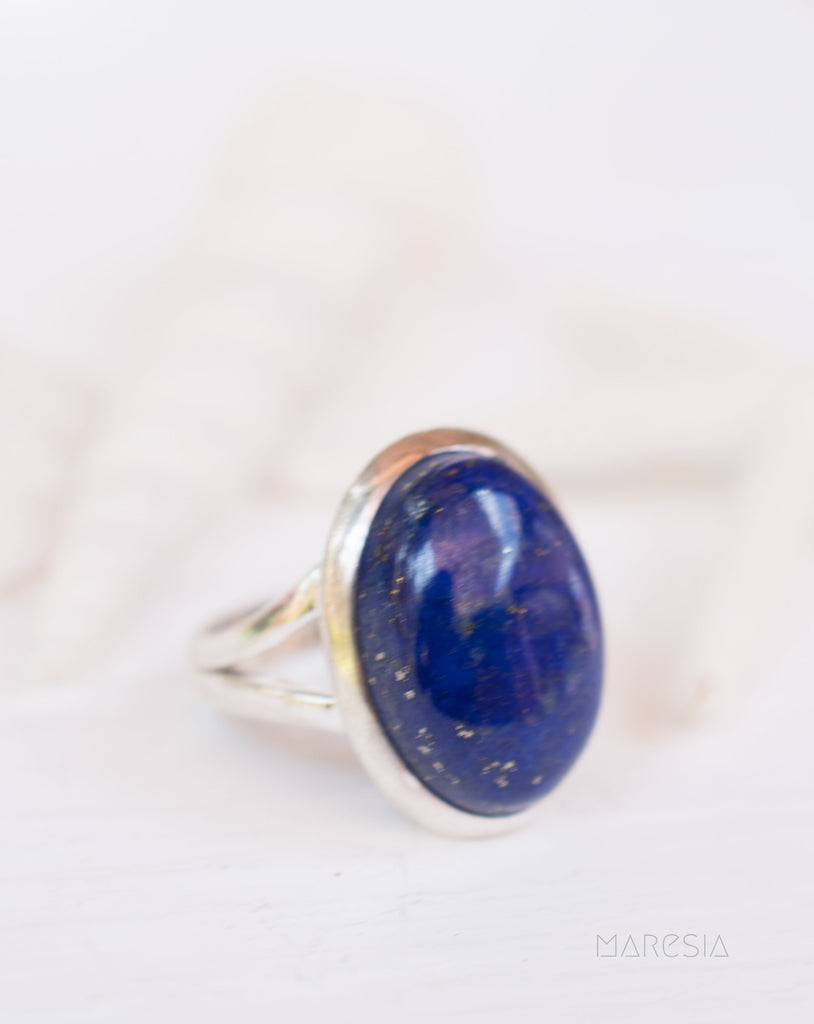 Lapis Lazuli Ring ~ Sterling Silver 925 ~ Handmade ~ Gemstone ~ Everyday ~Hippie ~Bohemian ~MR210