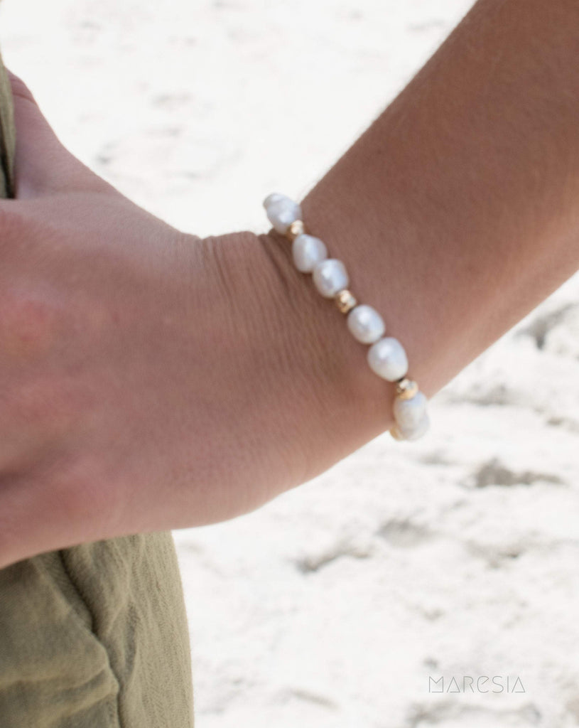 Fresh Water Pearl Bracelet ~Gold Filled or Sterling Silver 925 ~ MB013