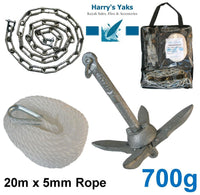 700g Anchor Kit (with 20m Rope & Chain)