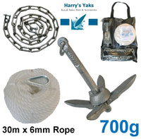 700g Anchor Kit (with 30m Rope & Chain)