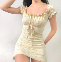 [SUMMER SPECIAL] Bacan Off Shoulder Laces Short Dress