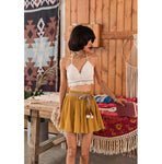 Bayam Bohemian Crotchet Top x Short Skirt Pant