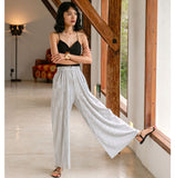 Inagua Short Top x Silver Pleated Long Pant
