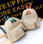 Straw Mini Backpack