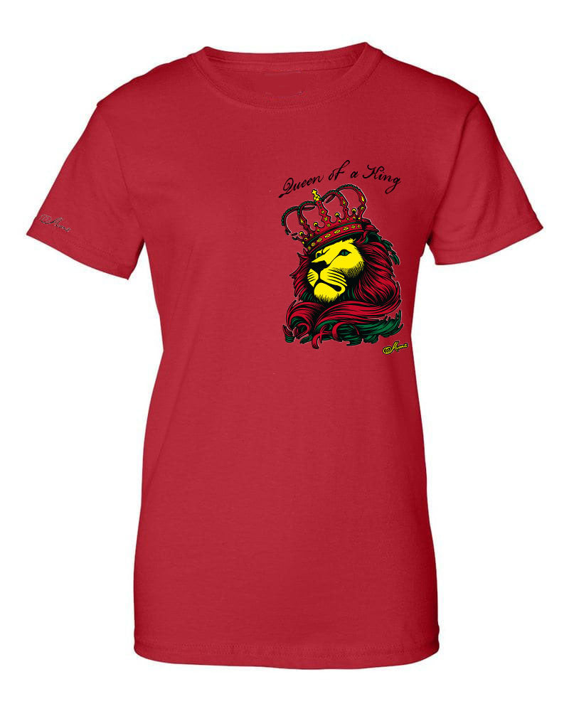Abana Women Lion &  Flag Multi- Color T-Shirts