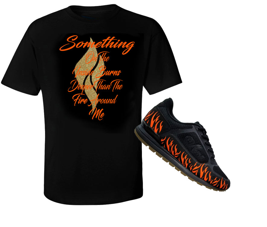 Abana Shoe & T-Shirt Combo Set/Gold (CLICK TO VIEW OTHERS COLORS)