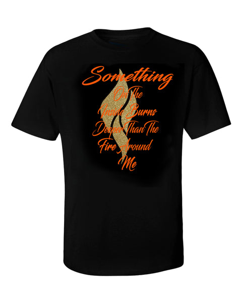 Abana Something On Inside Tee w/Gold Flame (CLICK TO VIEW OTHER COLORS)