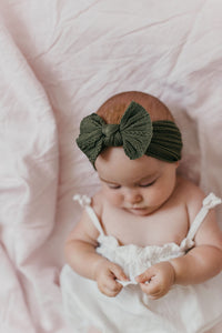 Cable Knot Headband | Olive