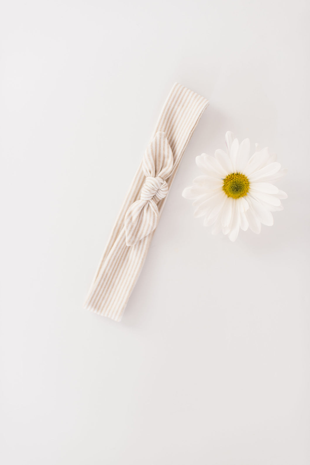 Knit Headband | Natural Stripe