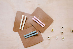 Enamel Bar Clips | Grey Blue