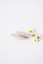 Velvet Bar Clips | Light Pink