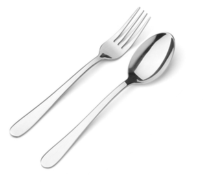 Recycled Sky Blue + Fork & Spoon