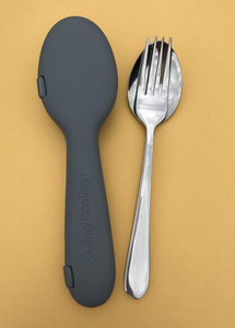 Recycled Cool Grey + Fork & Spoon