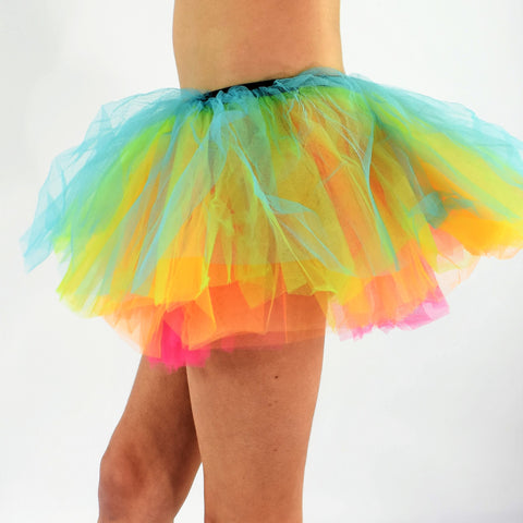 Short Adult Play Tutu - Rainbow