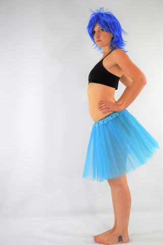 Long Adult Play Tutu - Light Blue