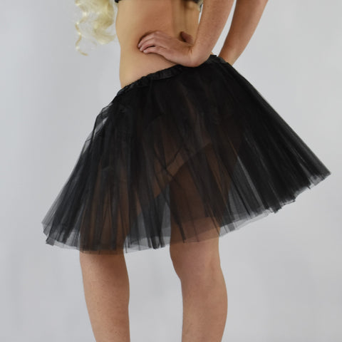 Long Adult Play Tutu - Black