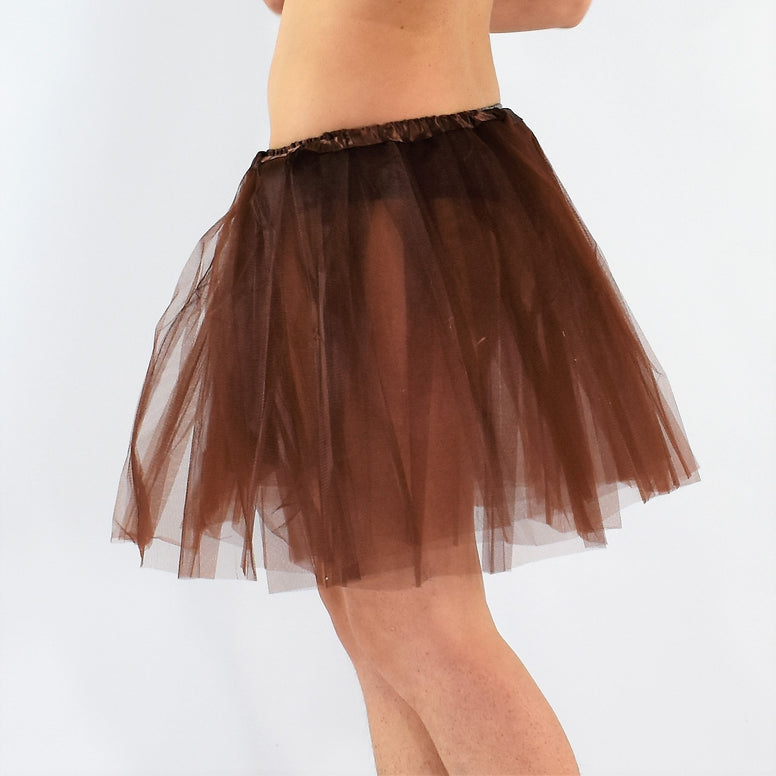 Long Adult Play Tutu - Brown