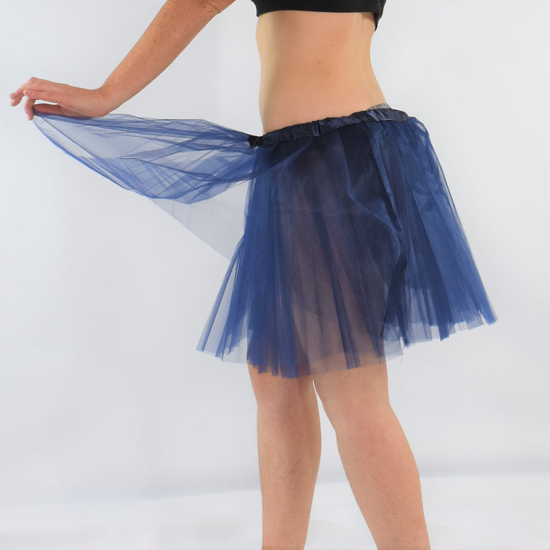 Long Adult Play Tutu - Dark Blue