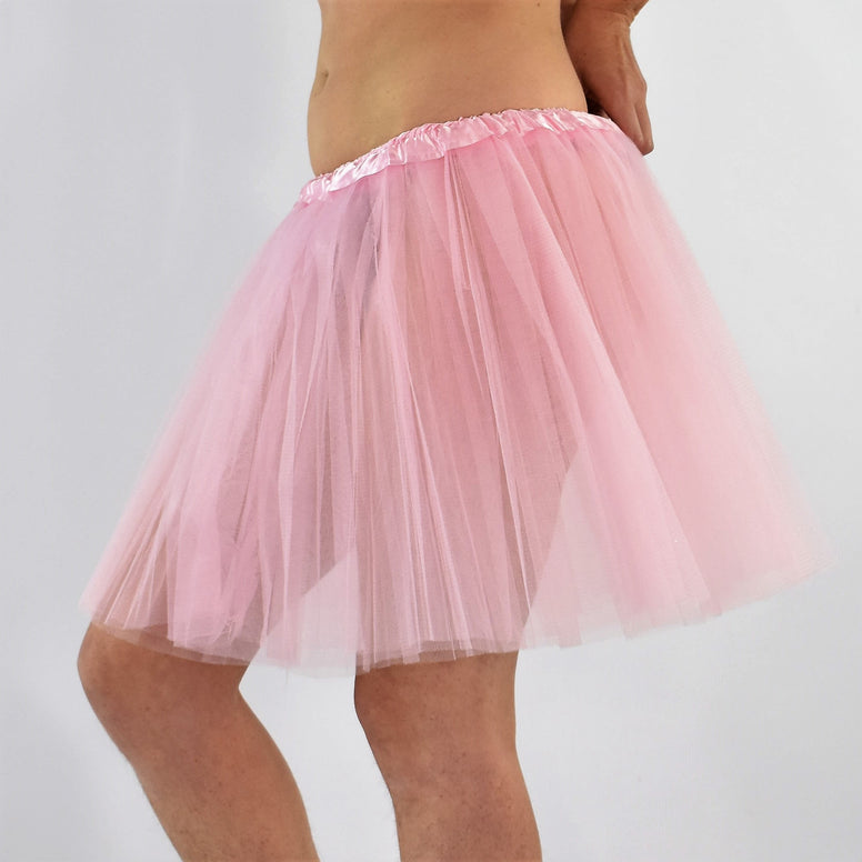 Long Adult Play Tutu - Pastel Pink