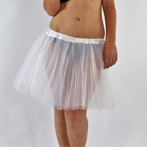 Long Adult Play Tutu - White