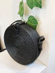 Rattan Halo Bag Black