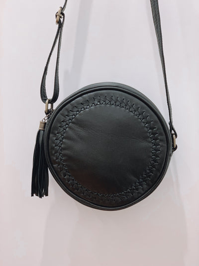 Halo Circle Leather Bag