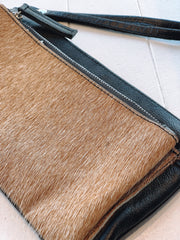 Lambskin Leather with Cowhide Fur