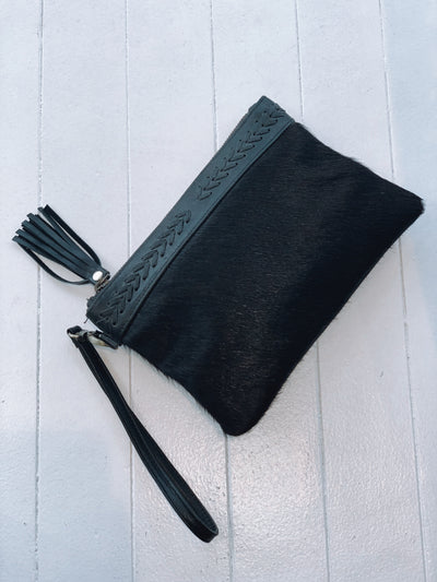 Halo Black Clutch