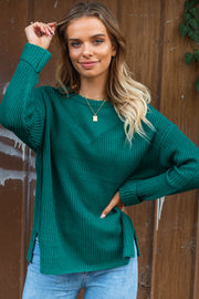 Dominique Green Knit Sweater