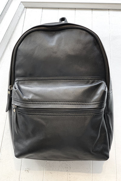 Dakota | Black Lambskin Leather BackPack