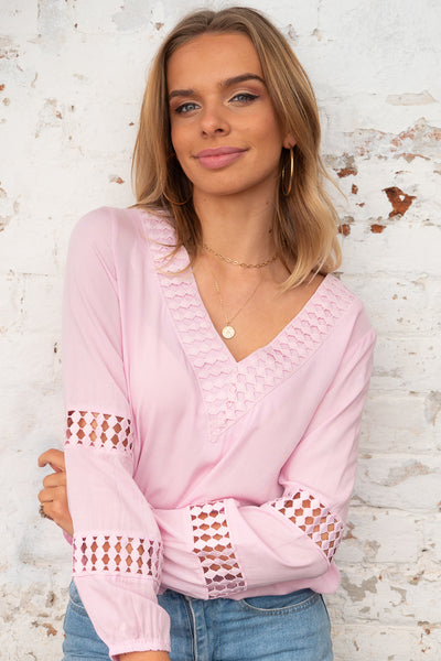 Alba Top in Baby Pink