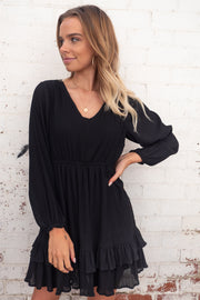 Delilah | Mini Dress in Black