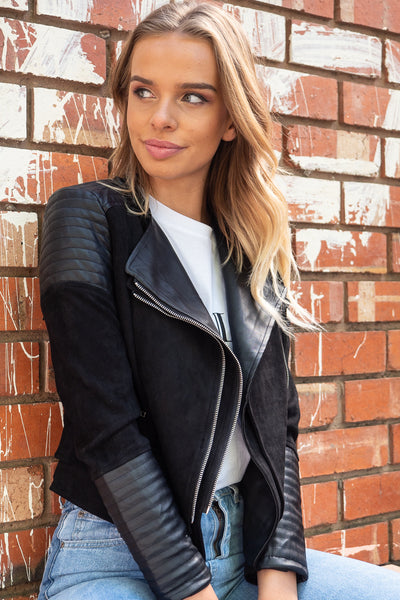 Bessie Biker Jacket In Black