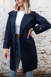 Mia Coat in Navy