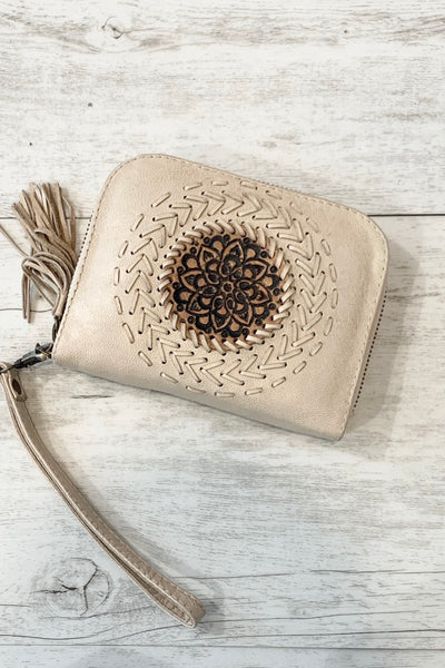 Amy Beige Leather Wallet