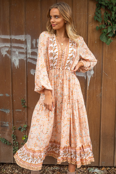 Giselle | Boho Maxi Dress in a Long Sleeve
