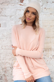Ava | Oversized Knit in Soft Pink