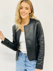 Kristy | Black Leather Jacket
