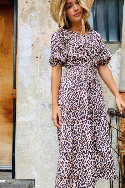 Mila Leopard Maxi Dress