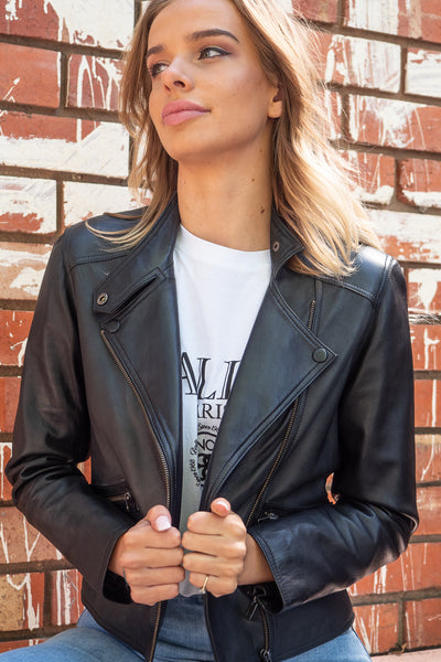 Grace | Classic Lambskin Leather Jacket