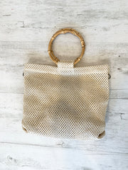 Halo Rattan Bag With Wooden Handles